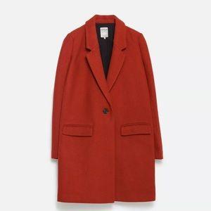 6c7c18fd Zara Jackets & Coats - Zara TRF masculine wool coat rare Terracotta